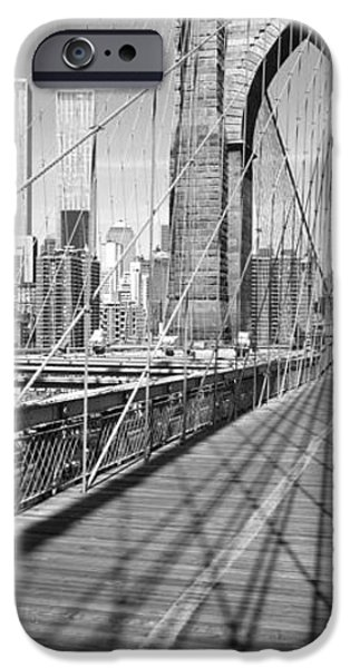 Twin Towers Nyc iPhone Cases - Brooklyn Bridge Manhattan New York City iPhone Case by Panoramic Images