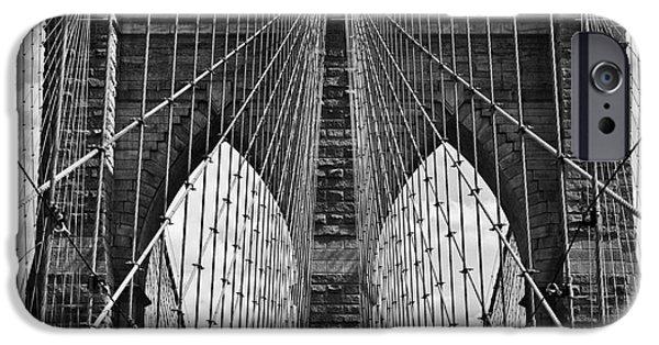Consumerproduct iPhone Cases - Brooklyn Bridge iPhone Case by Peter Dang