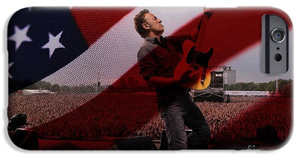 Bruce Springsteen Prints iPhone Cases - Bruce Springsteen iPhone Case by Marvin Blaine