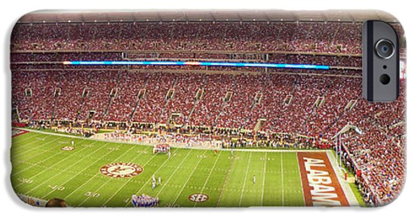 Tuscaloosa iPhone Cases - Bryant Denny Stadium iPhone Case by Nomad Art And  Design
