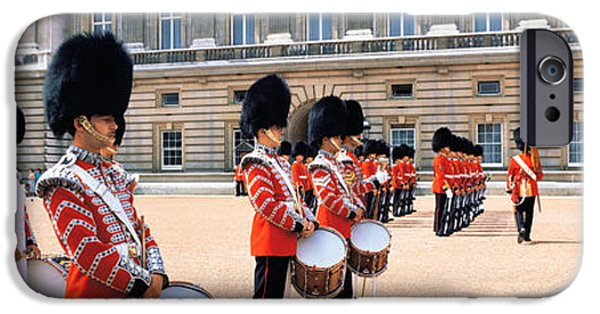 Marching Band Photographs iPhone Cases - Buckingham Palace London England iPhone Case by Panoramic Images