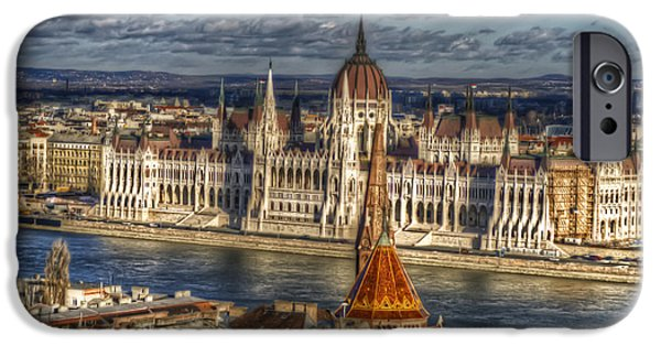 Dark Skies Digital iPhone Cases - Buda Parliament  iPhone Case by Nathan Wright