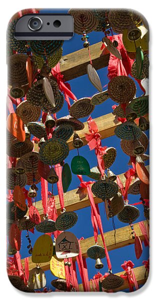 Buddhism iPhone Cases - Buddhist Prayer Wishes Ema Hanging iPhone Case by Panoramic Images