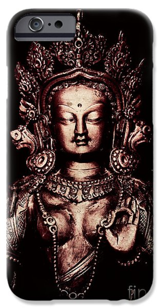 Buddhist Photographs iPhone Cases - Buddhist Tara Deity iPhone Case by Tim Gainey