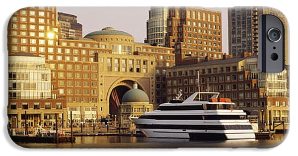 City. Boston iPhone Cases - Buildings At The Waterfront, Boston iPhone Case by Panoramic Images