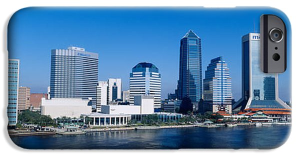 St. Johns River iPhone Cases - Buildings At The Waterfront, St. Johns iPhone Case by Panoramic Images