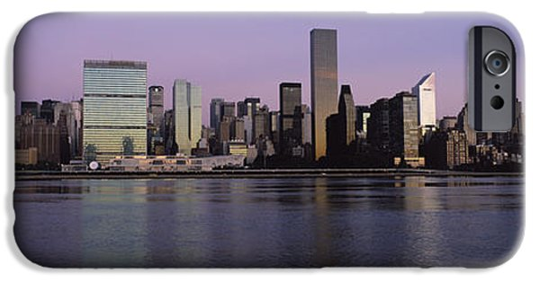 Nation iPhone Cases - Buildings At The Waterfront Viewed iPhone Case by Panoramic Images