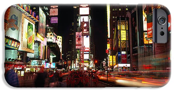 Commercial Photography iPhone Cases - Buildings In A City, Broadway, Times iPhone Case by Panoramic Images