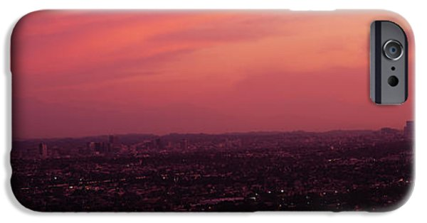Built Structure iPhone Cases - Buildings In A City, Hollywood, San iPhone Case by Panoramic Images