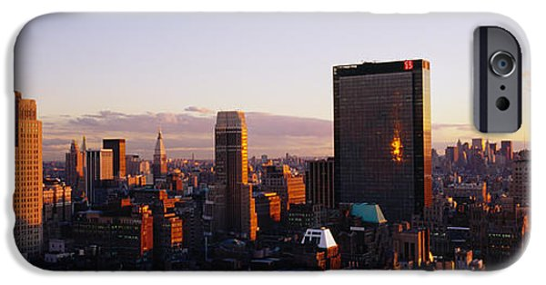 Business iPhone Cases - Buildings In A City, Manhattan, New iPhone Case by Panoramic Images