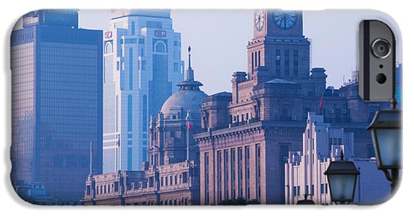 Office Block iPhone Cases - Buildings In A City, The Bund iPhone Case by Panoramic Images