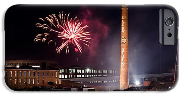 4th July iPhone Cases - Bull Durham Fireworks iPhone Case by Jh Photos