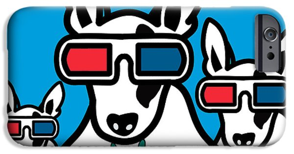 Animation iPhone Cases - Bull Terrier iPhone Case by Mark Ashkenazi