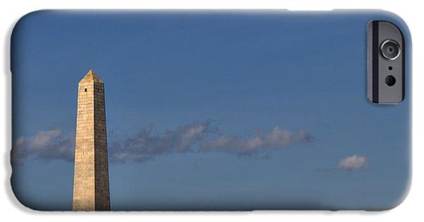 American Revolution iPhone Cases - Bunker Hill Monument - Boston iPhone Case by Joann Vitali
