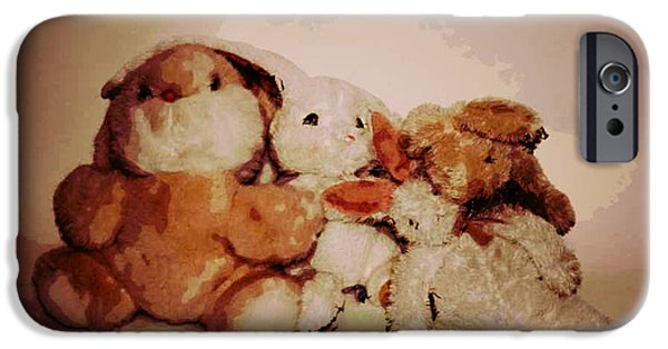 Decor Ceramics iPhone Cases - Bunnies iPhone Case by Michael James Greene