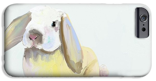 Child iPhone Cases - Bunny iPhone Case by Cathy Walters