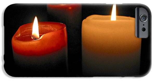 Candle Lit iPhone Cases - Burning candles iPhone Case by Elena Elisseeva