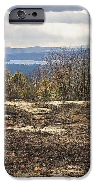 Burnt Blueberry Field In Maine iPhone Case by Keith Webber Jr