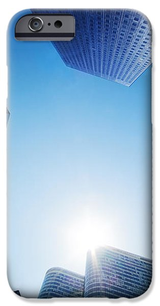 Business skyscrapers iPhone Case by Michal Bednarek