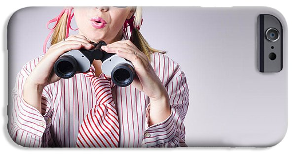 Youthful iPhone Cases - Businesswoman planning future business strategy iPhone Case by Ryan Jorgensen