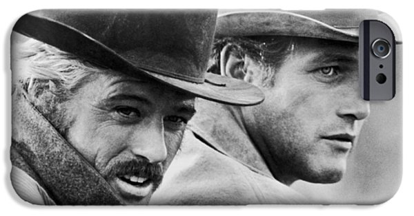 Old Digital iPhone Cases - Butch Cassidy and the Sundance Kid iPhone Case by Nomad Art And  Design