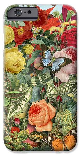 Culture iPhone Cases - Butterfly Garden iPhone Case by Gary Grayson
