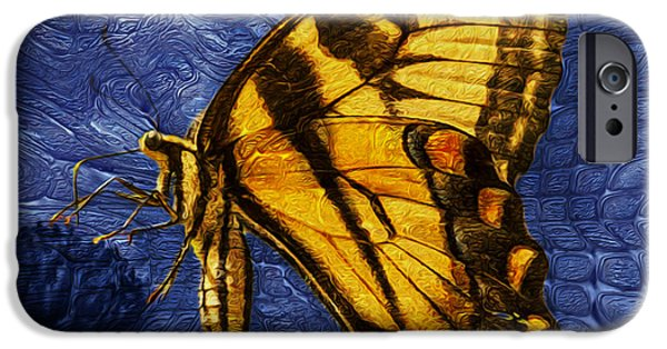 Merging iPhone Cases - Butterfly iPhone Case by Jack Zulli