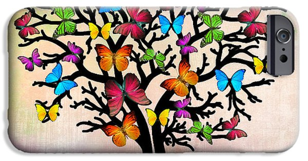 Orsillo Digital iPhone Cases - Butterfly iPhone Case by Mark Ashkenazi