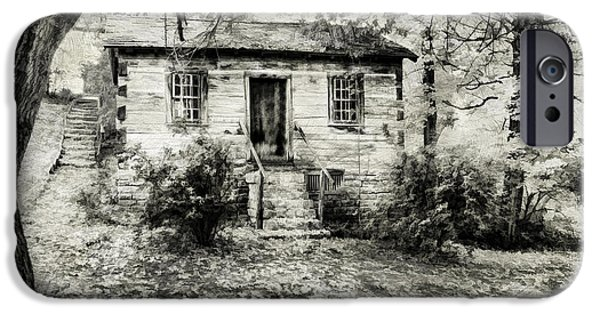 Cabin Window iPhone Cases - Cabin in the Woods iPhone Case by Darren Fisher