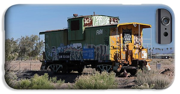 Caboose Photographs iPhone Cases - Caboose  iPhone Case by Diane  Greco-Lesser
