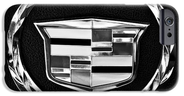 Best Sellers -  - Old Cars iPhone Cases - Cadillac Emblem iPhone Case by Jill Reger