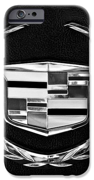 Cadillac Emblem iPhone Case by Jill Reger