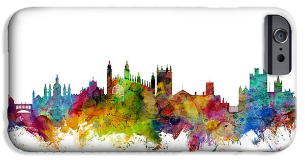 Great Britain iPhone Cases - Cambridge England Skyline iPhone Case by Michael Tompsett