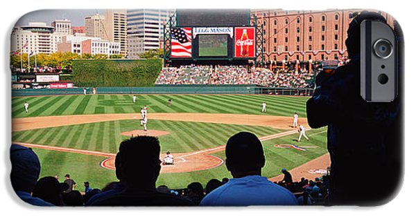 Camden Yards Stadium iPhone Cases - Camden Yards Baseball Game Baltimore iPhone Case by Panoramic Images