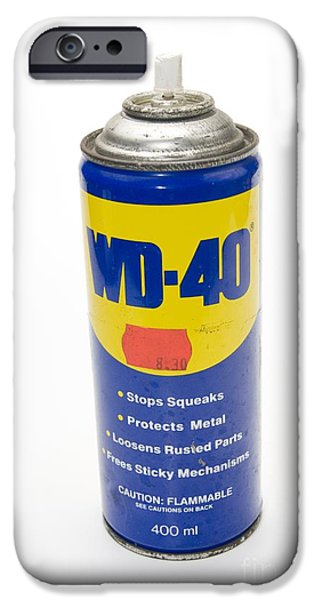 Diy iPhone Cases - Can Of Wd-40 Oil iPhone Case by PhotoStock-Israel