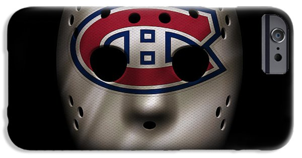 Montreal Canadiens iPhone Cases - Canadiens Jersey Mask iPhone Case by Joe Hamilton