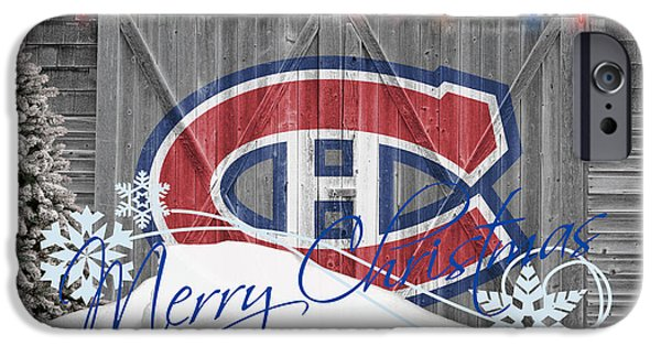 Montreal Canadiens iPhone Cases - Canadiens iPhone Case by Joe Hamilton