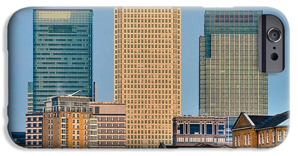 Financial Interest iPhone Cases - Canary Wharf - London iPhone Case by Luciano Mortula