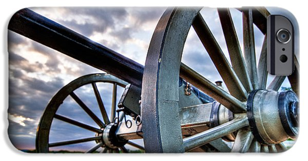 Weapon iPhone Cases - Cannon over Gettysburg iPhone Case by Andres Leon
