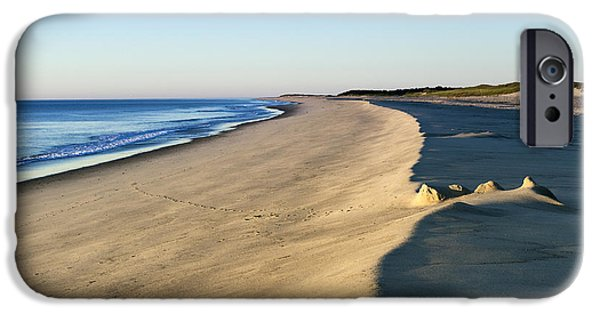 Sand Castles iPhone Cases - Cape Cod National seashore iPhone Case by John Greim