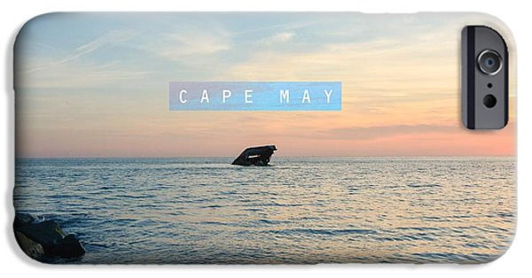 Gear Pyrography iPhone Cases - Cape May iPhone Case by America Roadside