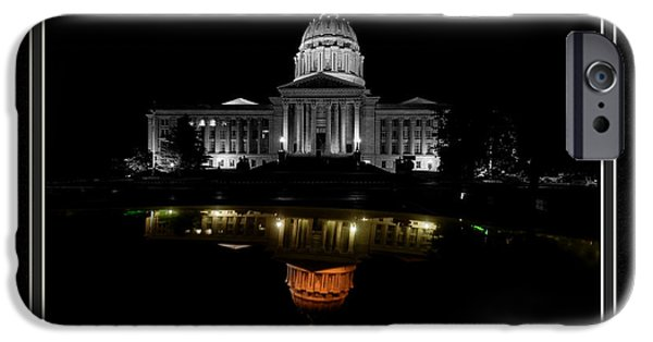 Matting iPhone Cases - Capitol Reflection iPhone Case by Charles Feagans