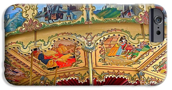 Cathar Country iPhone Cases - Carcassonne Carousel iPhone Case by France  Art