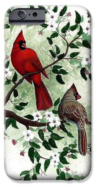 Award Winning Art iPhone Cases - Cardinals iPhone Case by Steven Schultz