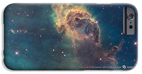Interstellar Space Paintings iPhone Cases - Carina Nebula iPhone Case by Nasa