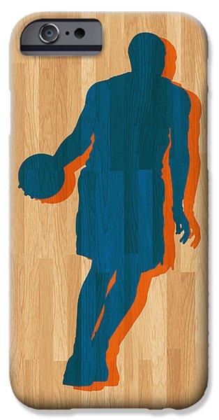 Carmelo Anthony iPhone Cases - Carmelo Anthony New York Knicks iPhone Case by Joe Hamilton