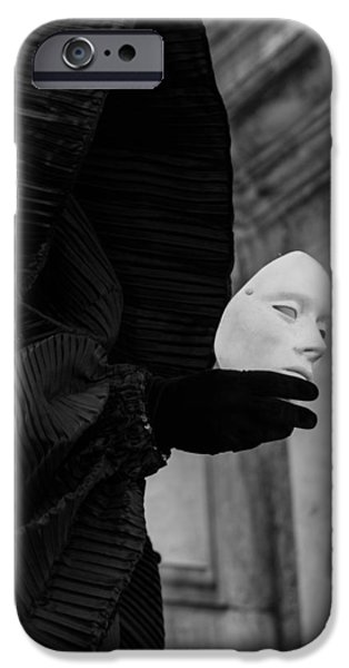 Portrait Of Evil iPhone Cases - Carnival of Venice - Ghost - tell me everything iPhone Case by Zina Zinchik