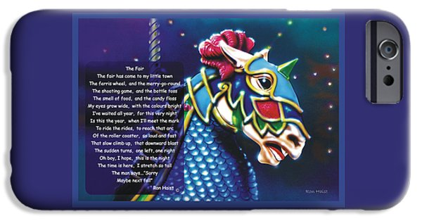 Airbrush iPhone Cases - Carousel  iPhone Case by Ron Haist