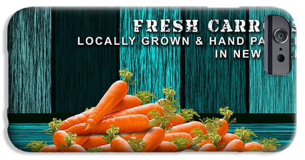Vegetables iPhone Cases - Carrot Farm iPhone Case by Marvin Blaine