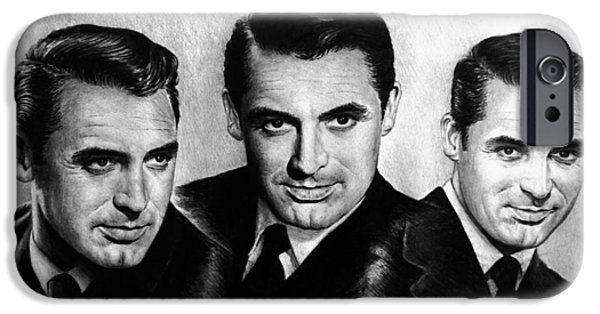 1940s Portraits iPhone Cases - Cary Grant iPhone Case by Andrew Read